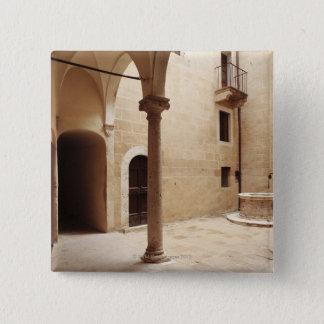 Italy,Tuscany,Pienza 15 Cm Square Badge