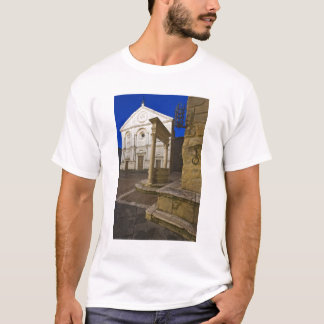 Italy, Tuscany, Pienza. Cathedral facade and T-Shirt