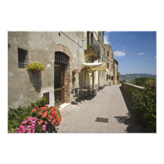 Italy, Tuscany, Pienza. Outer walkway around Photo Print