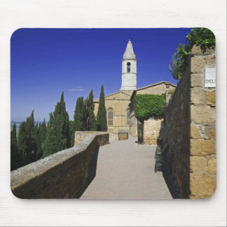 Italy, Tuscany, Pienza. Part of Via dell' Mouse Mat