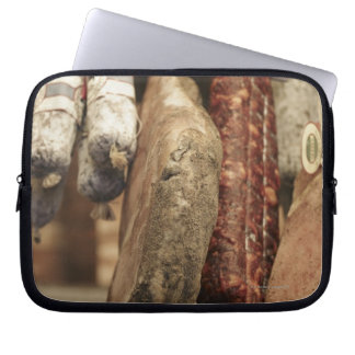 Italy,Tuscany,Pienza,Selection of local ham and Laptop Sleeve