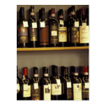 Italy, Tuscany, Pienza Wine display in shop Post Card