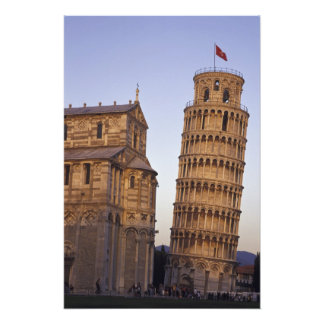 Italy, Tuscany, Pisa Leaning Tower of Pisa and Photographic Print