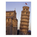 Italy, Tuscany, Pisa Leaning Tower of Pisa and Postcard