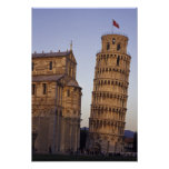 Italy, Tuscany, Pisa Leaning Tower of Pisa and Poster