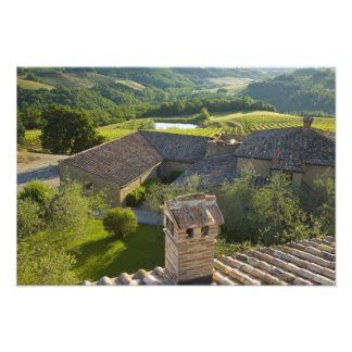 Italy, Tuscany. Roofop view of the villa Art Photo