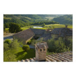 Italy, Tuscany. Roofop view of the villa Posters