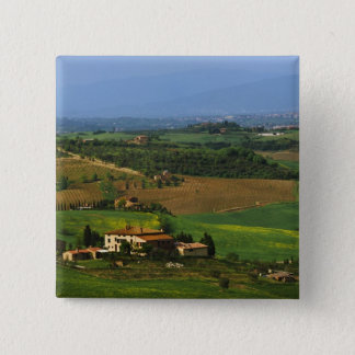 Italy, Tuscany. Scenic of the Val d'Orcia 15 Cm Square Badge