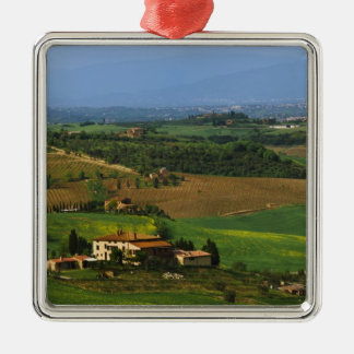 Italy, Tuscany. Scenic of the Val d'Orcia Christmas Ornament