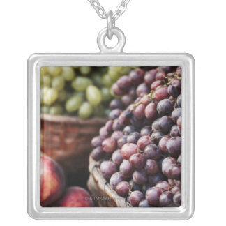 Italy,Tuscany,Siena 2 Silver Plated Necklace