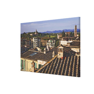 Italy, Tuscany, Siena. Rooftop view of city Canvas Print