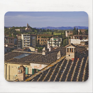 Italy, Tuscany, Siena. Rooftop view of city Mouse Mat