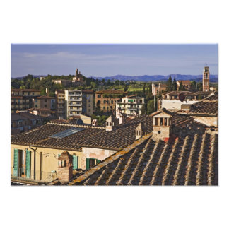 Italy, Tuscany, Siena. Rooftop view of city Photo Print
