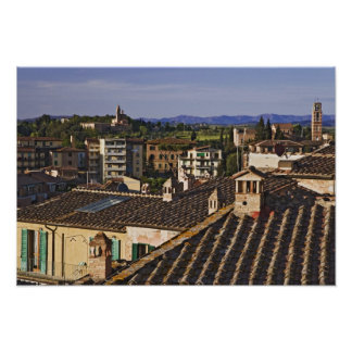Italy, Tuscany, Siena. Rooftop view of city Poster