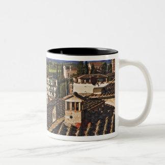 Italy, Tuscany, Siena. Rooftop view of city Two-Tone Coffee Mug