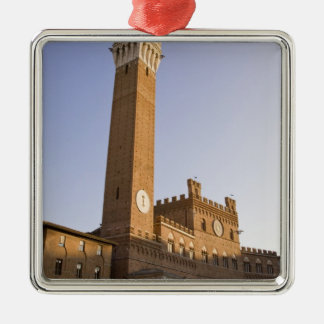 Italy, Tuscany, Sienna. Torre del Mangia on Silver-Colored Square Decoration