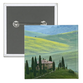 Italy, Tuscany. The Belvedere or beautiful 15 Cm Square Badge