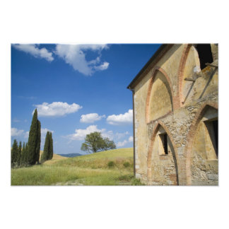Italy, Tuscany, Tuscan Villa in Spring. Photo Print