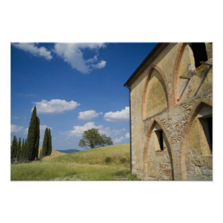 Italy, Tuscany, Tuscan Villa in Spring. Poster