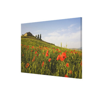 Italy, Tuscany, Tuscan Villa in Spring With Canvas Print