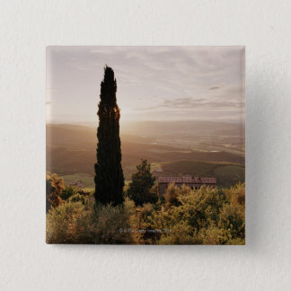 Italy,Tuscany,Val d'Orcia,Montalcino 15 Cm Square Badge
