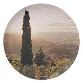 Italy,Tuscany,Val d'Orcia,Montalcino Plate