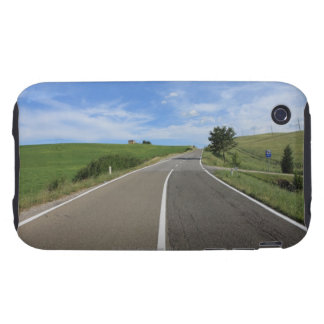 Italy, Tuscany, Val d'Orcia, Road iPhone 3 Tough Cases