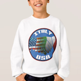 Italy USA Friendship Sweatshirt
