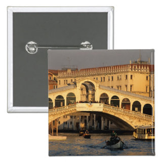 Italy, Veneto, Venice, Canal Grande and Rialto 15 Cm Square Badge