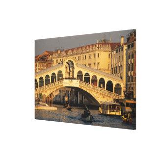 Italy, Veneto, Venice, Canal Grande and Rialto Gallery Wrap Canvas