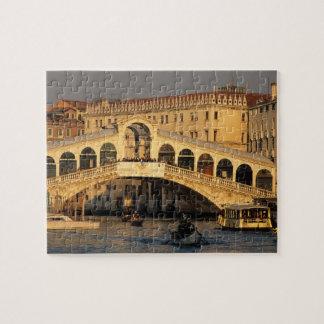 Italy, Veneto, Venice, Canal Grande and Rialto Jigsaw Puzzle