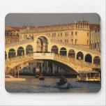 Italy, Veneto, Venice, Canal Grande and Rialto Mouse Pad