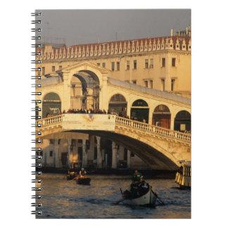 Italy, Veneto, Venice, Canal Grande and Rialto Spiral Notebook