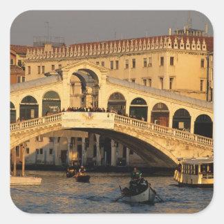 Italy Veneto Venice Canal Grande and Rialto Square Stickers