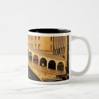 Italy, Veneto, Venice, Canal Grande and Rialto Two-Tone Coffee Mug