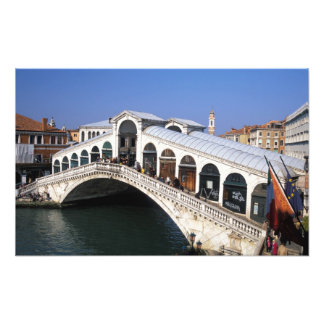 Italy, Veneto, Venice, Rialto Bridge crossing Art Photo