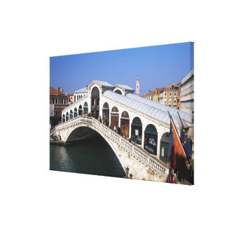 Italy, Veneto, Venice, Rialto Bridge crossing Canvas Print