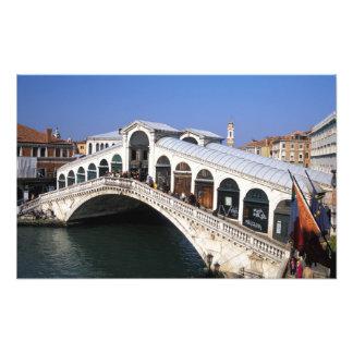 Italy, Veneto, Venice, Rialto Bridge crossing Photo Art