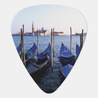 Italy, Veneto, Venice, Row of Gondolas and San Guitar Pick