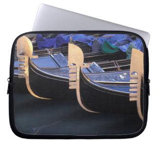 Italy, Veneto, Venice. Row of Gondolas. Laptop Sleeve