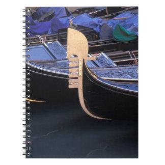 Italy, Veneto, Venice. Row of Gondolas. Notebook