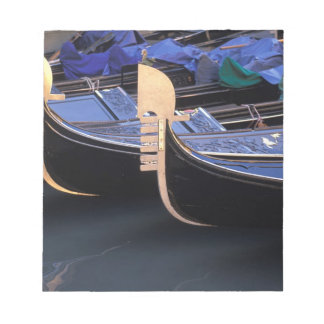Italy, Veneto, Venice. Row of Gondolas. Notepad