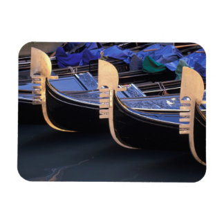 Italy, Veneto, Venice. Row of Gondolas. Rectangular Photo Magnet
