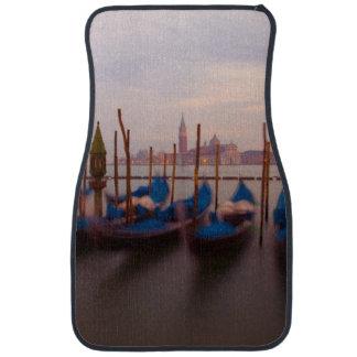 Italy, Venice. Anchored gondolas at twilight. Car Mat
