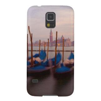 Italy, Venice. Anchored gondolas at twilight. Galaxy S5 Cases