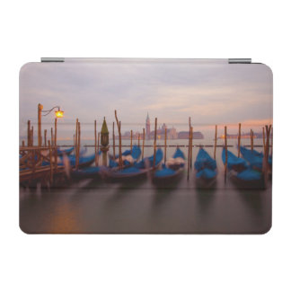 Italy, Venice. Anchored gondolas at twilight. iPad Mini Cover