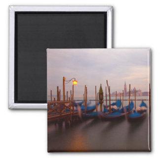 Italy, Venice. Anchored gondolas at twilight. Refrigerator Magnets