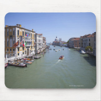 Italy, Venice, Boats on canal in city Mouse Mat