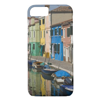 Italy, Venice, Burano. Multicolored houses along 2 iPhone 7 Case