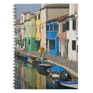 Italy, Venice, Burano. Multicolored houses along 2 Spiral Notebook